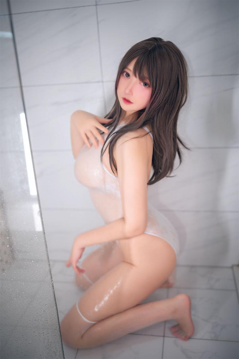 [念念_D] 白色競泳 - (20P)