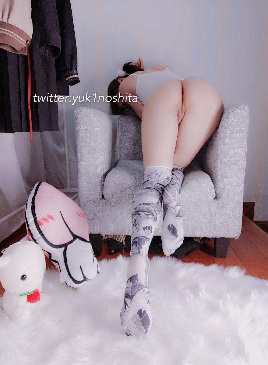 Yuzaki gaming on bedroom - (15P)